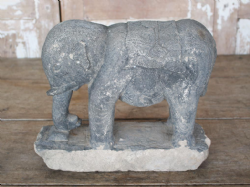 Tribal Stone Baby Elephant, Kerala, South India circa 1900